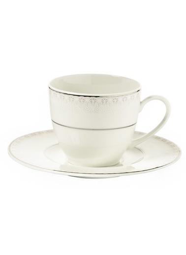 Kütahya Porselen Bone Kalipso 92914 Desen Çay Fincan Takımı Renkli